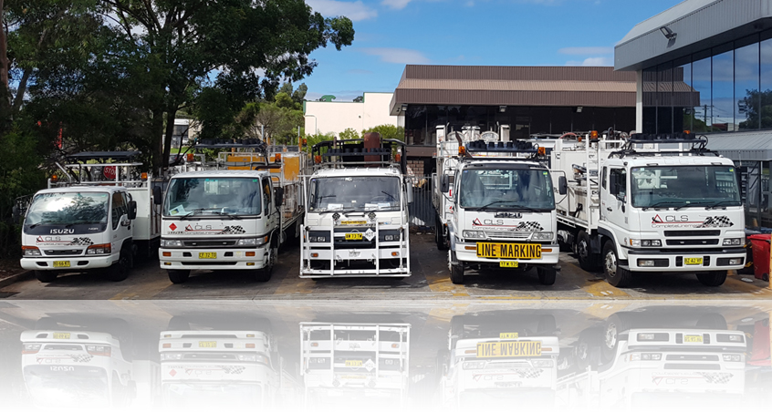 Complete Linemarking Services Trucks